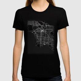 Minimal Los Angeles LA City Map Tee T-shirt