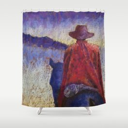 Solitude Original Art Pastel Painting Shower Curtain