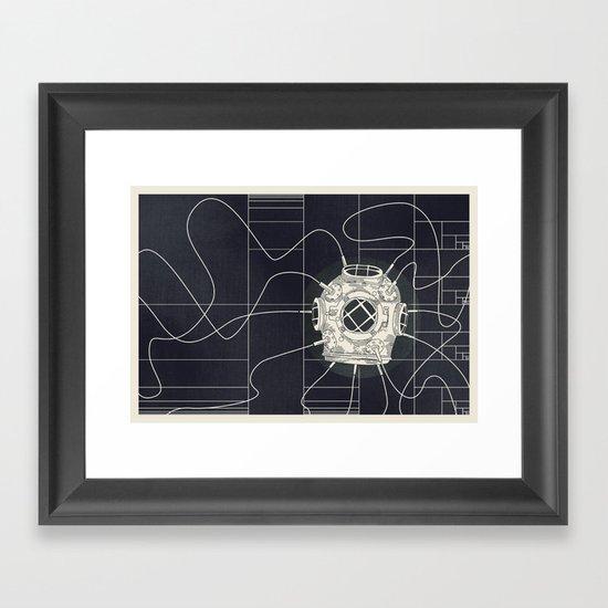 Dive Bomb / Recursive Framed Art Print