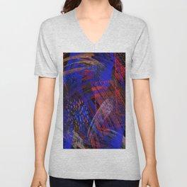 Abstract blue background Unisex V-Neck
