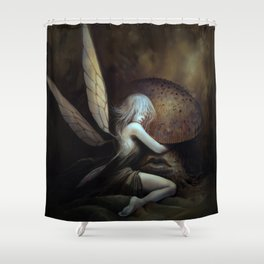 Fairy and Mushroom Shower Curtain