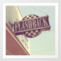 Flashback Sign Art Print