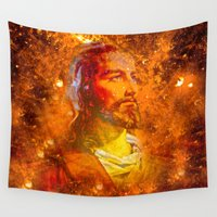 jesus Wall Tapestries featuring Jesus by Saundra Myles