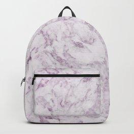 Elegant modern vintage white lilac violet marble Backpack