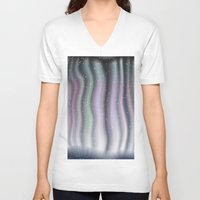northern lights V-neck T-shirts featuring Northern Lights by Bonnie Phantasm