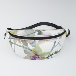 White and Pink Magnolias, Goldfish hiding, Surreal Fanny Pack