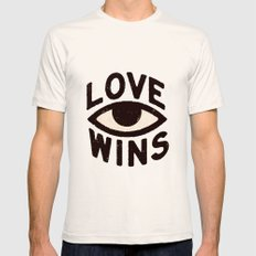 Love Wins Natural Mens Fitted Tee SMALL
