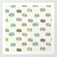 macarons Art Prints featuring Macarons by Little Holly Berry