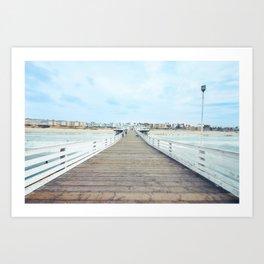 Beach Pier San Diego California Art Print