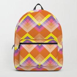 Yellow & Purple Chevron Backpack