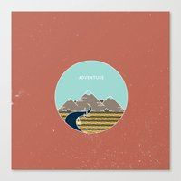 adventure is out there Canvas Prints featuring Adventure by Out There Studio