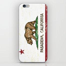 Pasadena California Republic Flag Distressed iPhone Skin