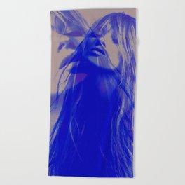 double Kate blues (kate moss) Beach Towel