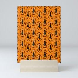 krampus christmas pattern Mini Art Print