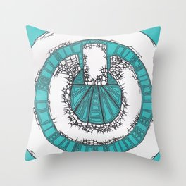Power Corrupted Throw Pillow