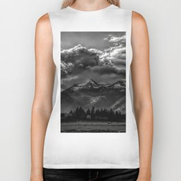 Mountain and Clouds Biker Tank