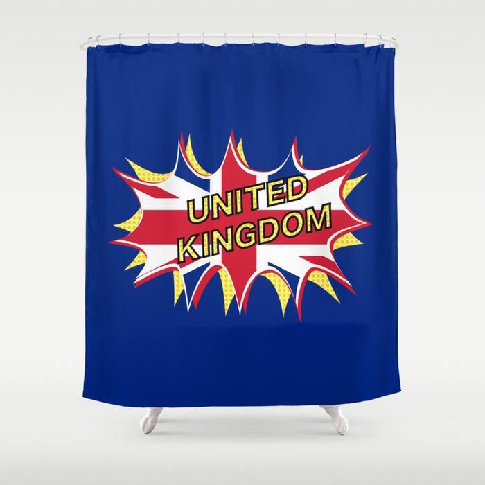 Union Jack Shower Curtain By Mailboxdisco