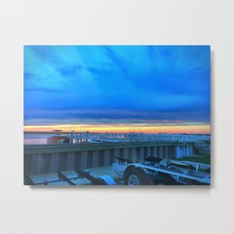 Dockside Dusk in Brigantine Metal Print