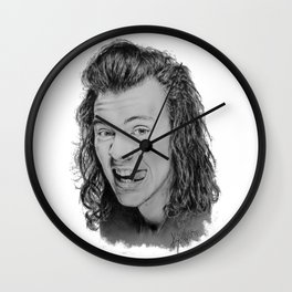 Portrait of Harry Styles Wall Clock