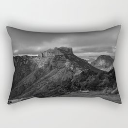 Top of Lost Mine Trail Mountaintop View, Big Bend - Landscape Photography Rectangular Pillow