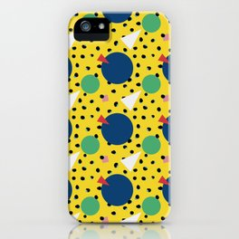 Leopard Geo Mix Pattern Multi Color - Yellow iPhone Case