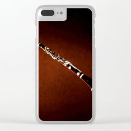 Clarinet Wind Instrument Wall Art Musical Home Decor A069 Clear iPhone Case