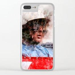 Phil Hill Close Clear iPhone Case