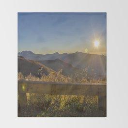 Sunrise on the Blue Ridge #2 Throw Blanket