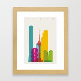 Shapes of Seoul accurate to scale Framed Art Print