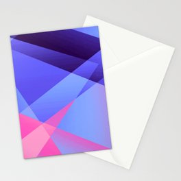 Omnisexual Pride Layered Translucent Angles Stationery Cards