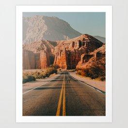desert road trip xix Art Print