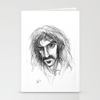 zappa Stationery Cards featuring Zappa by Mark T. Zeilman