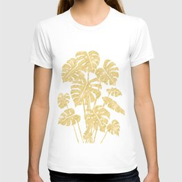 Delicate Monstera Golden #society6 T-shirt