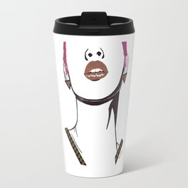 Gold Lips Travel Mug
