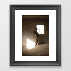 waiting at the window Framed Art Print