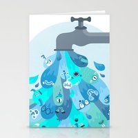 splash Stationery Cards featuring Splash by Lienke Raben