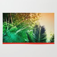 palms Area & Throw Rugs featuring PALMS by Teresa Madruga