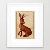 jackalope Framed Art Prints featuring Jackalope by Sarah DC