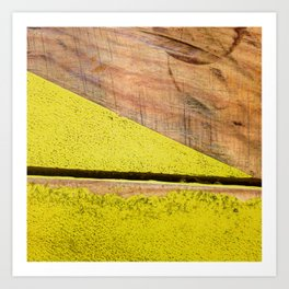 #85Photo #95 #YellowFound4 #BeautifulSolitude #Textures #Wood #Paint Art Print