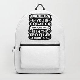 1 John 4:4 Backpack