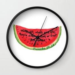 Proverbs 18:21 Wall Clock