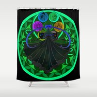 sailormoon Shower Curtains featuring Princess of Heart and Moon by Fairly Artful Artworks