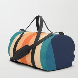 70's Retro Stripes Duffle Bag