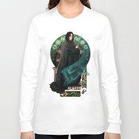 snape Long Sleeve T-shirts featuring Always by Megan Lara