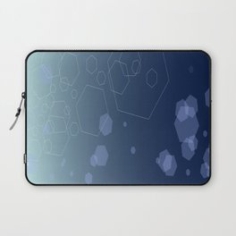 Hexagon background - Cold explosion Laptop Sleeve