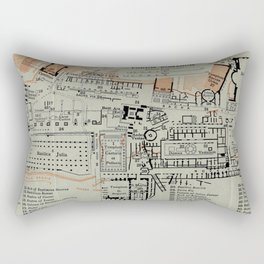 Vintage Map of The Roman Forum (1911) Rectangular Pillow