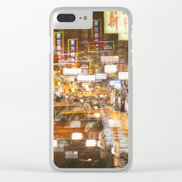 City nights, city lights Clear iPhone Case
