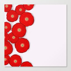 Red Flowers Carpet Canvas Print