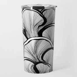 Mushrooms in black and white Travel Mug
