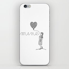 Be Mine (WOMENS) Couples T-Shirt iPhone Skin